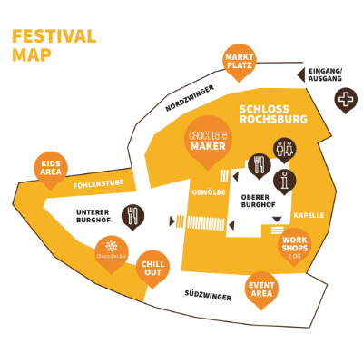 EuroBean Chocolate Festival Map